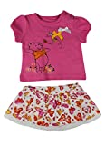 Alfa Global Baby Girl's Newborn Winnie the Pooh Top and Ruffle Skirt Set