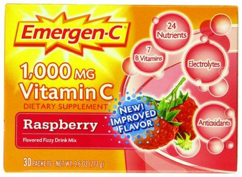Emergen-C 1,000 Mg Vitamin C, Raspberry Flavor, 30 Packets