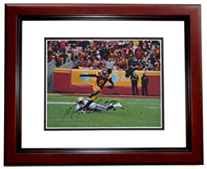 Marqise Lee Autographed Hand Signed USC Trojans 8x10 Photo MAHOGANY CUSTOM FRAME -... by Real Deal Memorabilia