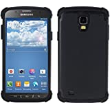 kwmobile Hybrid Outdoor Hülle für Samsung Galaxy S4 Active - Dual TPU Silikon Hard Case Handy Hard Cover in Schwarz