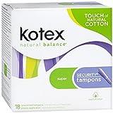 Kotex Super Security Unscented Tampon - 18 pads/pk