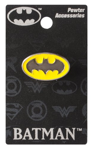 DC Batman Logo Colored Pewter Lapel Pin