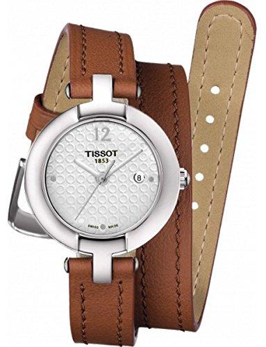 Tissot t084, 210,16,017,04 27 mm de acero inoxidable para hombre marrón sintética Sapphire funda de reloj para mujer