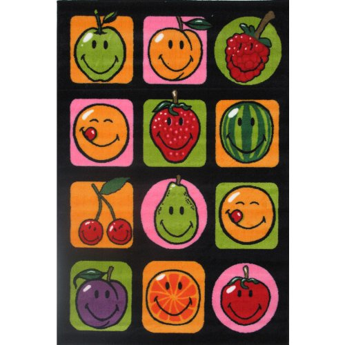Smiley Face Fruit Area Rug 39