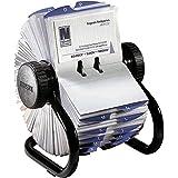 EldonMca S0793780 Rolodex Fichier rotatif en polystyrène pour cartes de visite Noir