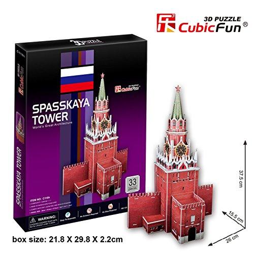 Cubic Fun - 3D Puzzle Spasskaya Tower Kreml Erlöserturm Moskau Russland Mittel