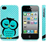ETOU Sleeping Owl Printed Silicone Glittery Protective Case for iPhone 4/4S (Pattern 16)