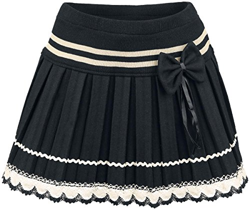 Innocent Bow Lace Mini Minigonna nero/bianco S