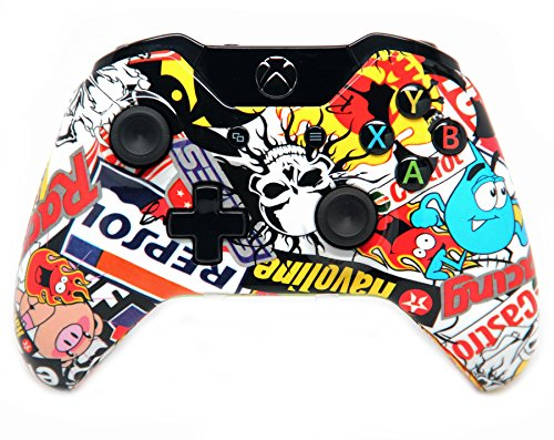 """Sticker Bomb"" Xbox One Custom Controller with Glossy Finish"