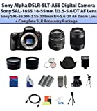 Sony Alpha DSLR-SLT-A55 Digital Camera W/18-55mm