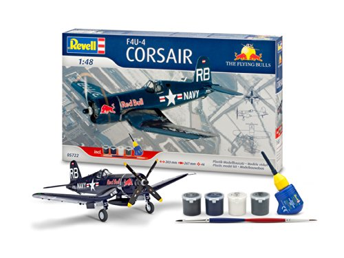 Revell-05722-Modellbausatz-Geschenkset-F4U-4-Corsair-Flyin-Mastab-148