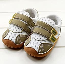 New Arrival New Baby Soft Bottom Cotton Fabric Toddler Baby Boy shoes First walker (3 US Size, Coffee)