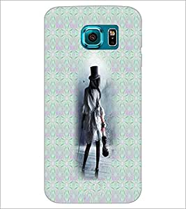 PrintDhaba Hat Girl D-5650 Back Case Cover for SAMSUNG GALAXY S6 (Multi-Coloured)