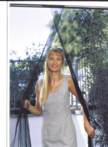 Schellenberg 20509 - Mosquitera para puertas, protección anti insectos y moscas (140 x 240 cm) color antracita