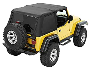 Bestop® 56820-35 Black Diamond Trektop NX Complete Frameless Replacement Soft Top with Sunrider® Sunroof Feature