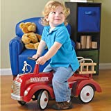 Cp Toys Hook & Ladder Steel Fire Truck Ride On For Toddlers