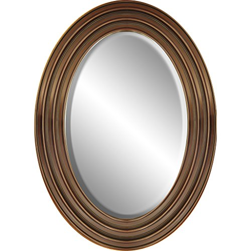 Oval Foyer Mirror : Framed oval wall mirror quot x distressed black home