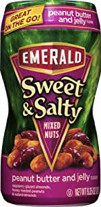 Emerald Sweet and Salty Nuts, Peanut Butter and Jelly, 12 Count