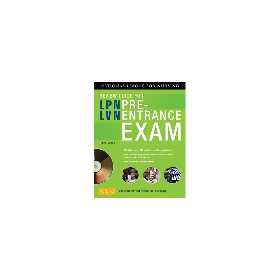 Nln Review Guide for LPN / LVN Pre Entrance Exam W/ CD [NLN REVIEW GD FOR  LPN / LVN PR]