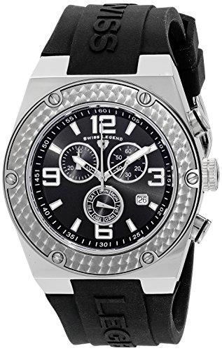 Swiss Legend Men's 30025-01 Throttle Chronograph Black Dial Watch