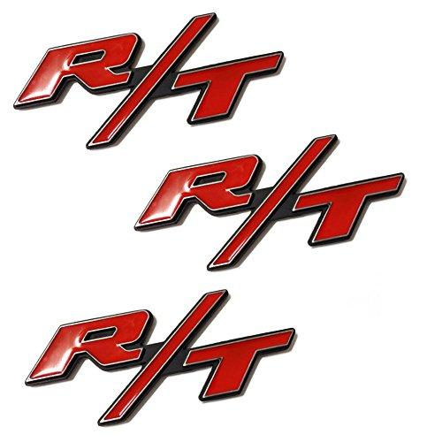 3pcs B181 Red RT R/T Fender Door Emblem Decal Badge Sticker Dodge Charger Ram 1500 Challenger Jeep Grand Cherokee (R Emblem compare prices)
