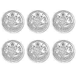 Pure Silver Coin 999 fineness Lot of 6 pcs of 20 gram each