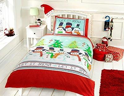 Kids christmas Snowmen Let It Snow ! Theme Duvet Sets & Pillowcase