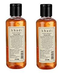 Khadi Henna Tulsi Herbal Shampoo,210ml(Pack of 2)