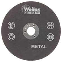 Weiler 1/4&#034; Arbor, 1/8&#034; Thickness, 3&#034; Diameter, A36T Grit, Type 1 Small Cut-Off Wheel