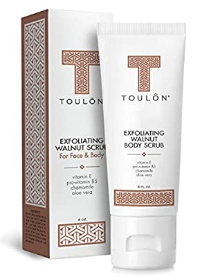 Best Cheap Deal for Exfoliating Scrub Face and Body; Walnut Facial Exfoliator. Great Exfoliant for Women or Men. Free Gift / No Risk by TOULON - Free 2 Day Shipping Available
