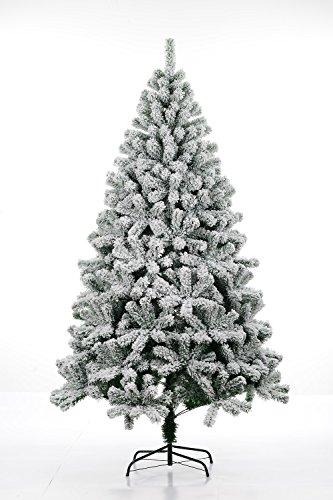 ビューティーライフ【BEAUTY LIFE®】クリスマス ツリー オーナメント無 装飾無 ヌード 単品 グリーン【ツリースカート&説明書付き】 Christmas tree green Xmas X-mas (210cm-雪付き)