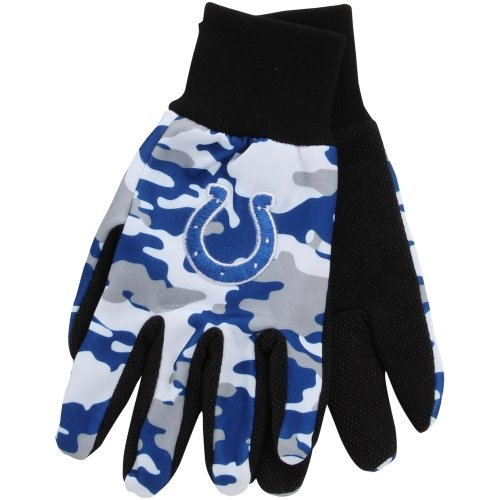Indianapolis Colts Camouflage Utility Work Glove - Royal Blue at Amazon.com