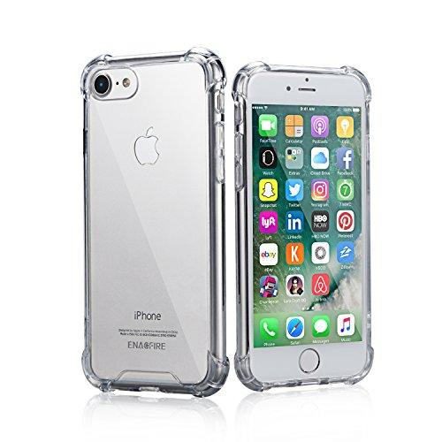 EnacFire iPhone7 ケース アイフォン7 ケース 落下防止 防指紋 超薄 耐衝撃カバー 高品質クリアTPU ケース 6ケ月保証