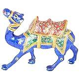 Rajgharana Handicrafts Multi Color Metal Meenakari Delightful Camel - (20 Cm X 14 Cm)