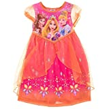 Rapunzel, Belle, and Cinderella Sheer Overlay Nightie for girls