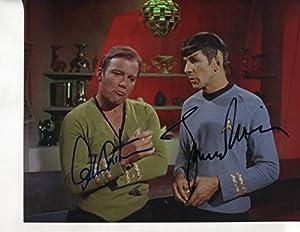 """* LEONARD NIMOY / WILLIAM SHATNER * signed classic """"Star Trek"""" 8x10 photo / UACC Registered Dealer # 212"""
