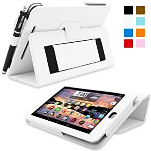 Snugg™ Nexus 7 Case - Smart Cover with Flip Stand & Lifetime Guarantee (White Leather) for Nexus 7