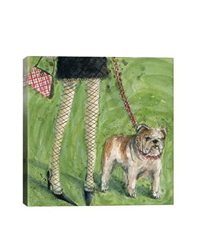 Bella Pilar Dog Day: English Bulldog Gallery Wrapped Canvas Print