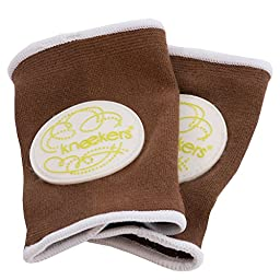 Ah Goo Baby Kneekers Baby Knee Pads for Crawling, Unisex, Lime Fizz Toffee Pattern, For Chunky Legs