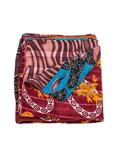Vintage Kantha Quilt, Multi