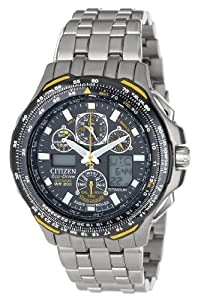 "Citizen Men's JY0050-55L ""Blue Angels Skyhawk A-T"" Titanium Eco-Drive Watch"
