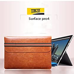 Taslar Crazy Horse Series Cover Case Shell For Microsoft Surface Pro 4 (Brown)