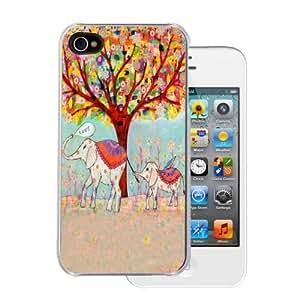Amazon.com: Elephant Flower Love Parade - iPhone 4/4s Clear Case