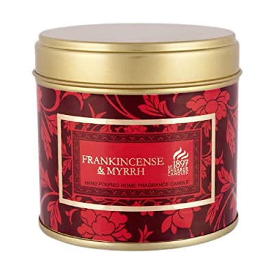 Shearer Candles SC0668 Large Tin Victorian Winter Candles, Burgundy from Shearer Candles