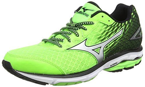 MizunoWave Rider 19 - Scarpe Running uomo, Green (Green Gecko/Silver/Black), 42