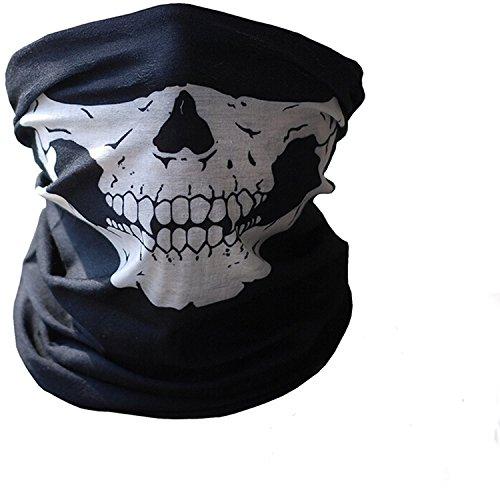 Gosear® Crâne Poussière Protection Tubulaire Masque Bandana Moto Polyester Écharpe Visage Neck Warmer