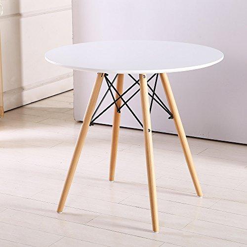 Eiffelturm Runder Esstisch Holz mit Buche Beinen Retro...