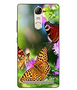 Snazzy Butterfly Printed Multicolor Hard Back Cover For Lenovo vibe K5 Note