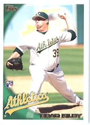 2010 Topps Baseball Card #168 Brad Kilby Oakland Athletics Rookie Card (RC) - MLB Trading Card