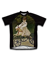 Jean Monet on his Hobby Horse Short Sleeve Cycling Jersey for Women